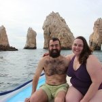 Rob and Clare by the Cabo San Lucas Arch