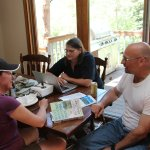 John, Ellen, and Jenny discuss hiking routes