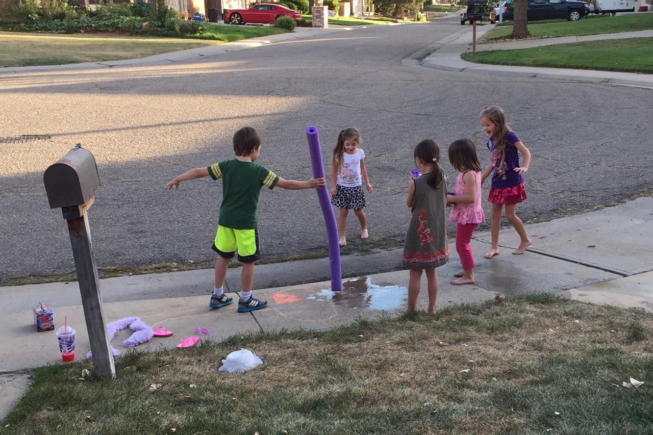 Neighborhood water fun