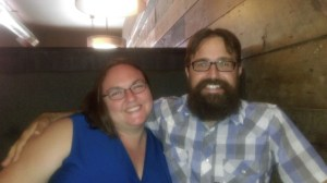 Clare and Rob at happy hour