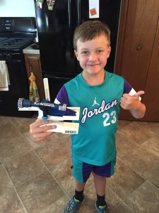 Spencer with his Construx ship