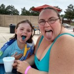 Slurpee mouth at the pool