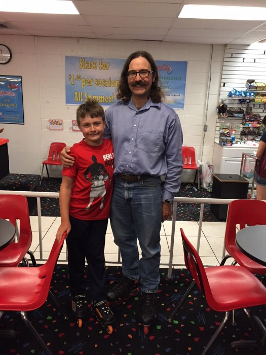 Rob and Spencer at Skate City