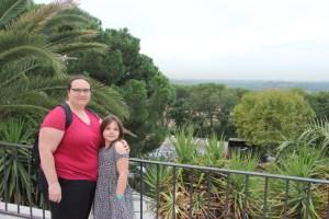 Clare and Meg near Temple de Bebod