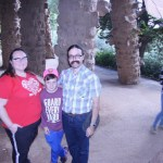 Clare, Spencer, and Rob in Park Guell