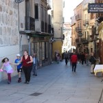 Narrow streets of Segovia