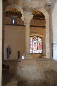 Arches and stained glass