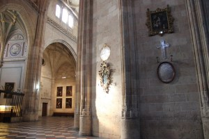 Massive walls in cathedral