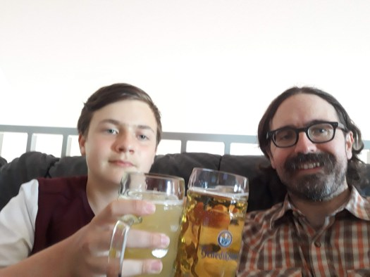Spencer and Rob say cheers