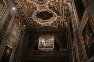 Ceiling and organ