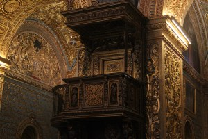 Pulpit with gold leaf