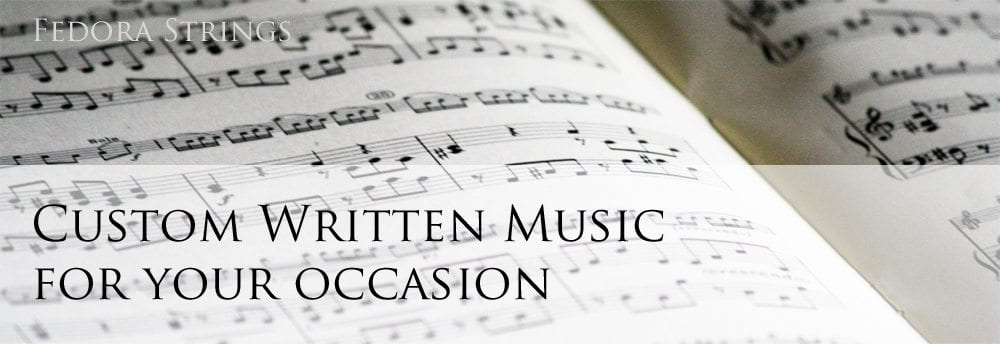 custom gift sheet music for you