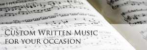 custom gift sheet music for you
