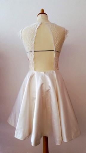 robe de mariée courte par créatrice couturière 78