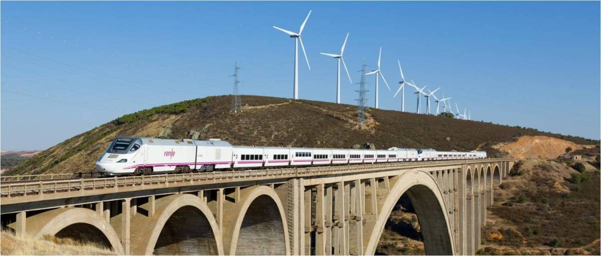 A high-speed train driven by renewables could look like this.