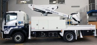 An electric cherry-picker truck by SEA