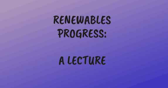 Banner: Renewalbes progress: A Lecture