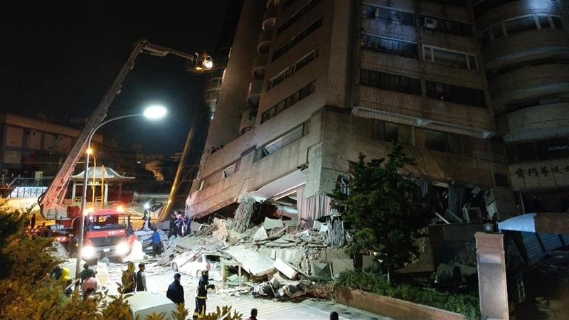 marshal hotel,Hualien city,earthquake in Taiwan,earthquake