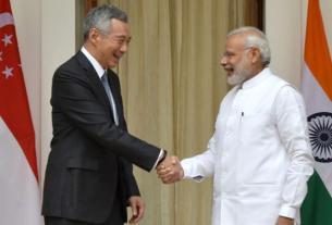 PM Modi,PM Lee Hsien,Modi in Singapore