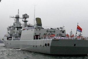 warship, china , us , tension