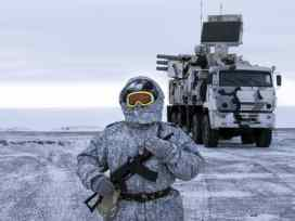 Russia has strengthened the military base to assert Arctic rights.