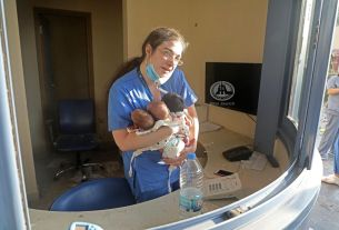beirut blast, beirut port explosion, beirut blast aftermath, lebanon hospital nurse viral photos, beirut nurse save newborns, beirut hospital nurse hero, viral news