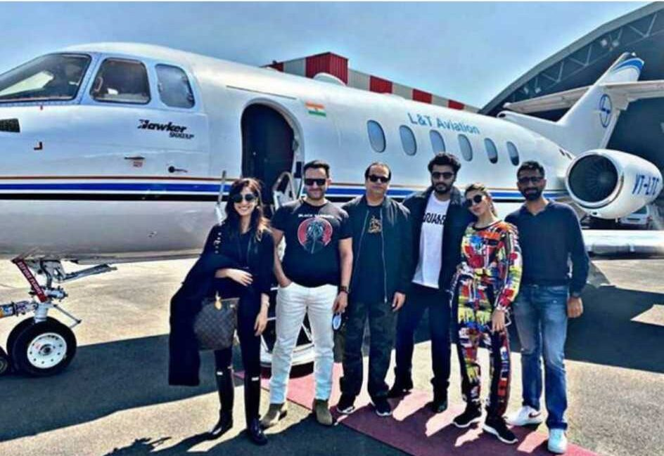 bhoot police, bhoot police poster, bhoot police first look, saif ali khan, kareena kapoor, Arjun Kapoor, Jacqueline Fernandez, yami gautam