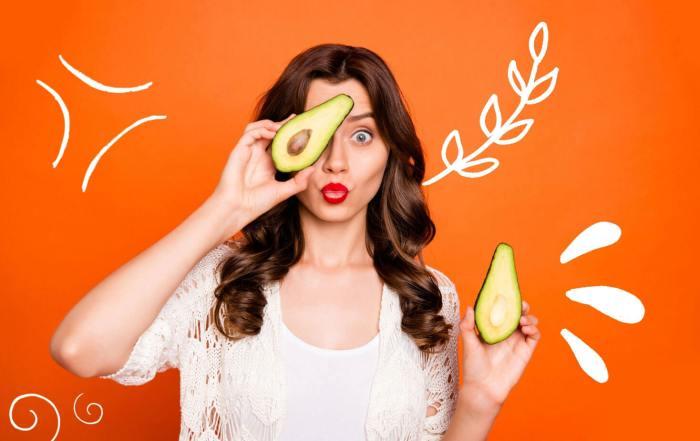 Avocado hair mask