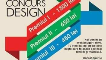 Concurs de design - Creeaza obiecte mestesukare!