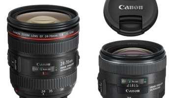 Canon a anuntat 2 noi obiective: EF 24-70mm f/4L IS şi EF 35mm f/2 IS