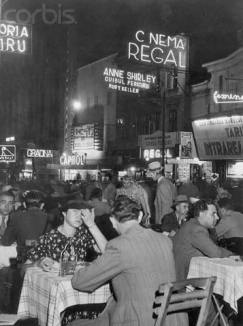 """24 Mar 1944, Bucharest, Romania --- Bucharest, Romania: Before the war, Bucharest, Rumanian capital, was known as the """"Paris of the Balka"""", and night life was gay. During the three years of collaboration with the Nazi's, Rumanian fascists waxed fat, but now they are caught between Nazi terror and Russian vengeance. --- Image by © Bettmann/CORBIS"""
