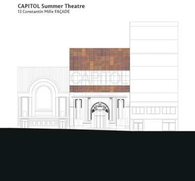Capitol fatada teatru intrare