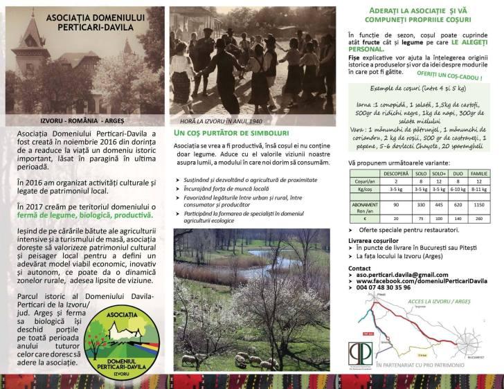 ferma bio Perticari Izvoru Argeș Pro Patrimonio