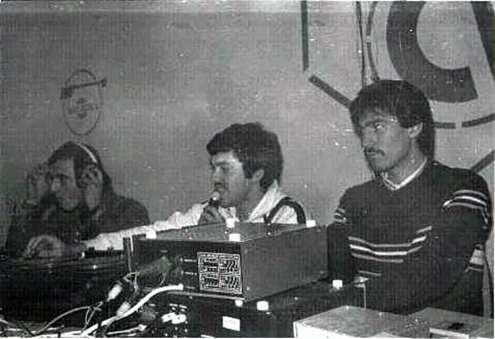 1980 Sorin Lupascu Gabi Cretu electronist în discoteca CH Iași