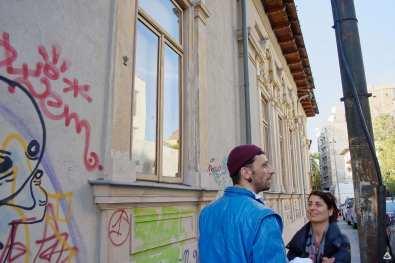 Un-hidden Bucharest street art tour Paul Dunca feeder.ro save or cancel