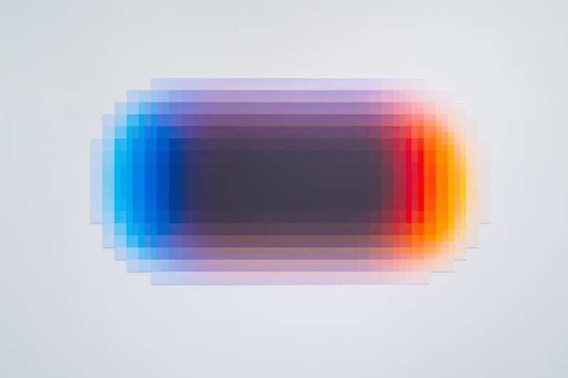 """Felipe Pantone """"Planned Iridescence CNFG"""" and """"Integration System"""" at Joshua Liner Gallery NYC"""