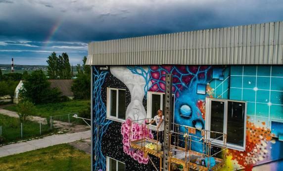iZZY iZVNE - mural ATU Winery 2