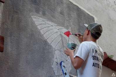 Japanese street artist Aito Kitazaki at Lente day 1