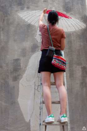 Japanese street artist Aito Kitazaki at Lente 26