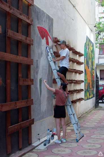 Japanese street artist Aito Kitazaki at Lente 32