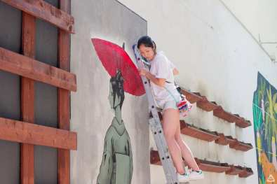 Japanese street artist Aito Kitazaki at Lente day 2