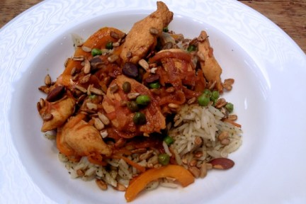 Orange, soy and maple chicken stir fry