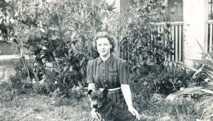 Betsy Tibbs with Pit Bull