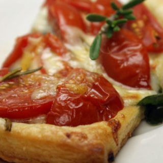 Tomato, Spinach, and Rosemary Tart