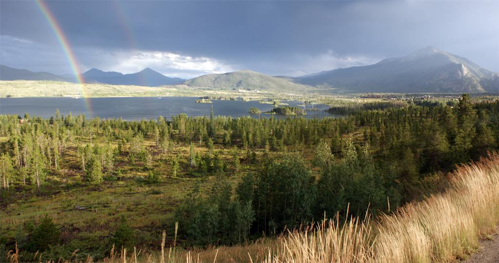 Lake Dillion and Rainbow