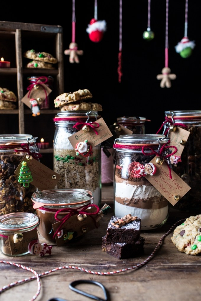 Edible Christmas Gifts In Jars, Photo Courtesy of Half Baked Harvest