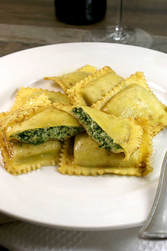 Perhaps the best known is Tortelli di Parma which is stuffed with with ricotta, spinach, and sometimes herbs. You'll probably find Tortelli di Parma served simply with butter and sage.