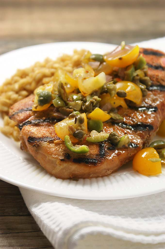 Pork Chops With Tapenade