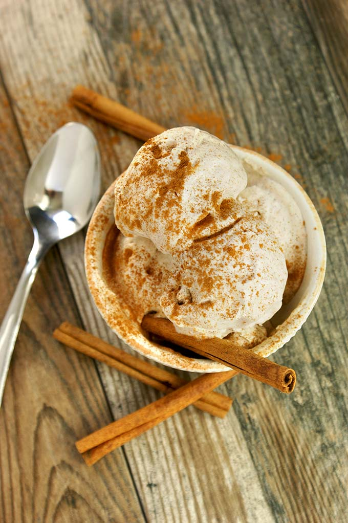 no churn cinnamon ice cream