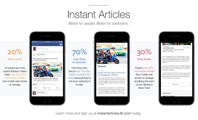 Instant article facebook